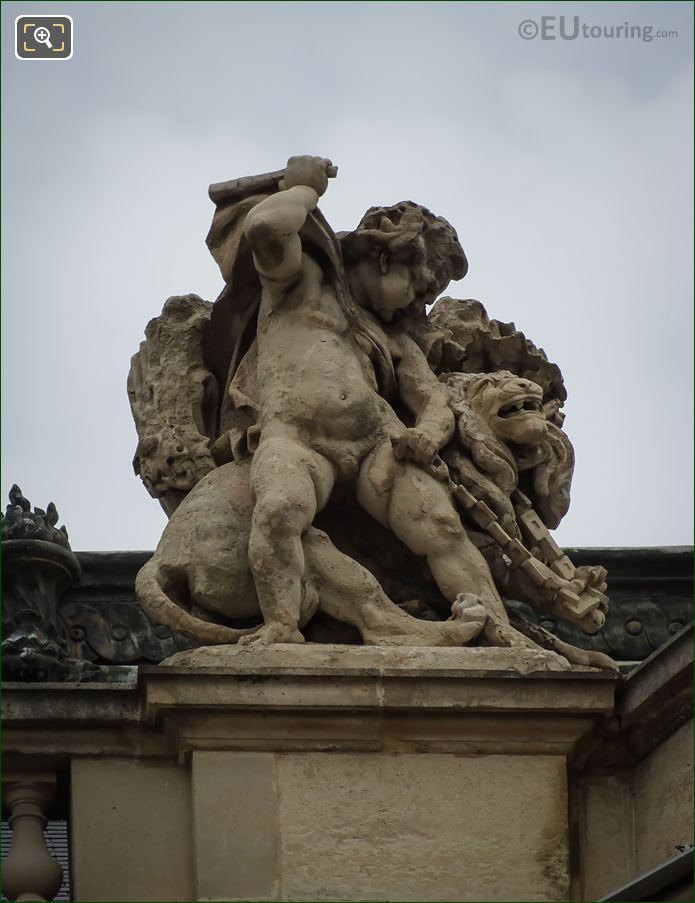 La Force Statue On Rotonde De Beauvais