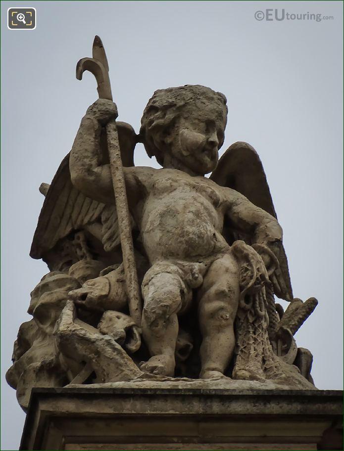 La Peche Statue By Auguste Jean Baptiste Lechesne