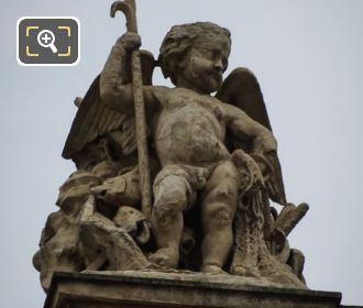 La Peche Statue On Rotonde De Beauvais