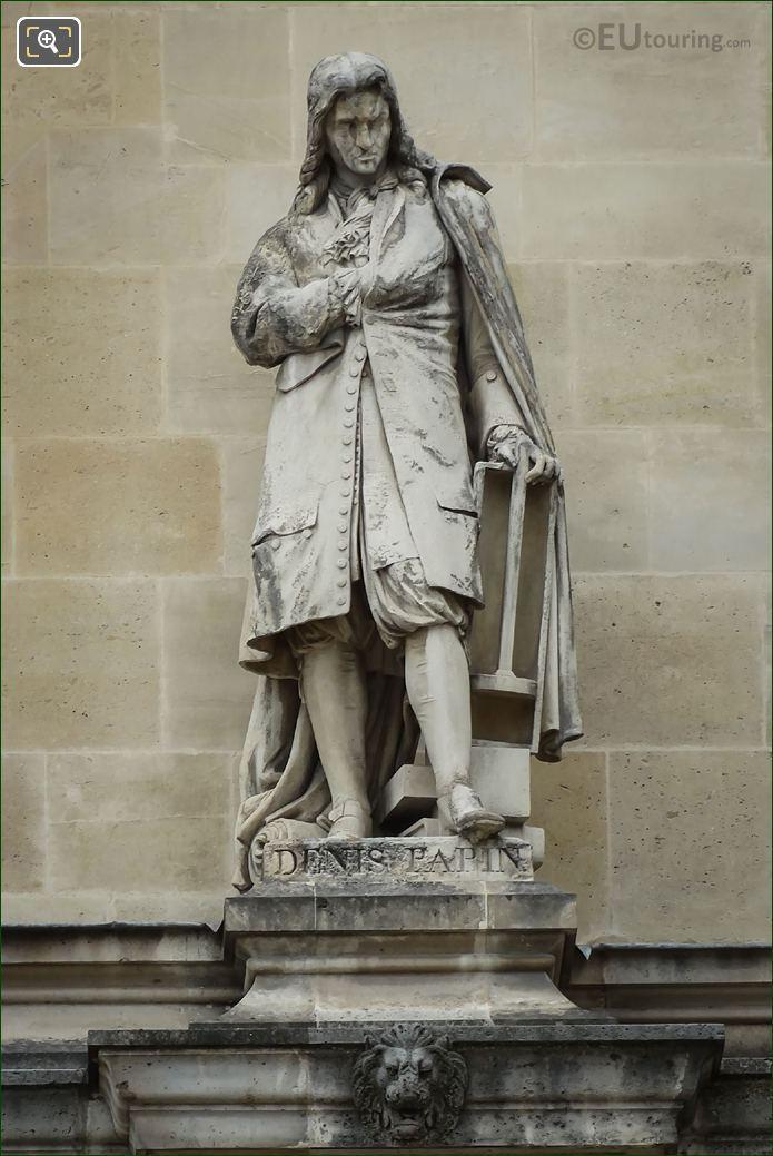 Denis Papin Statue By Jean Francois Soitoux