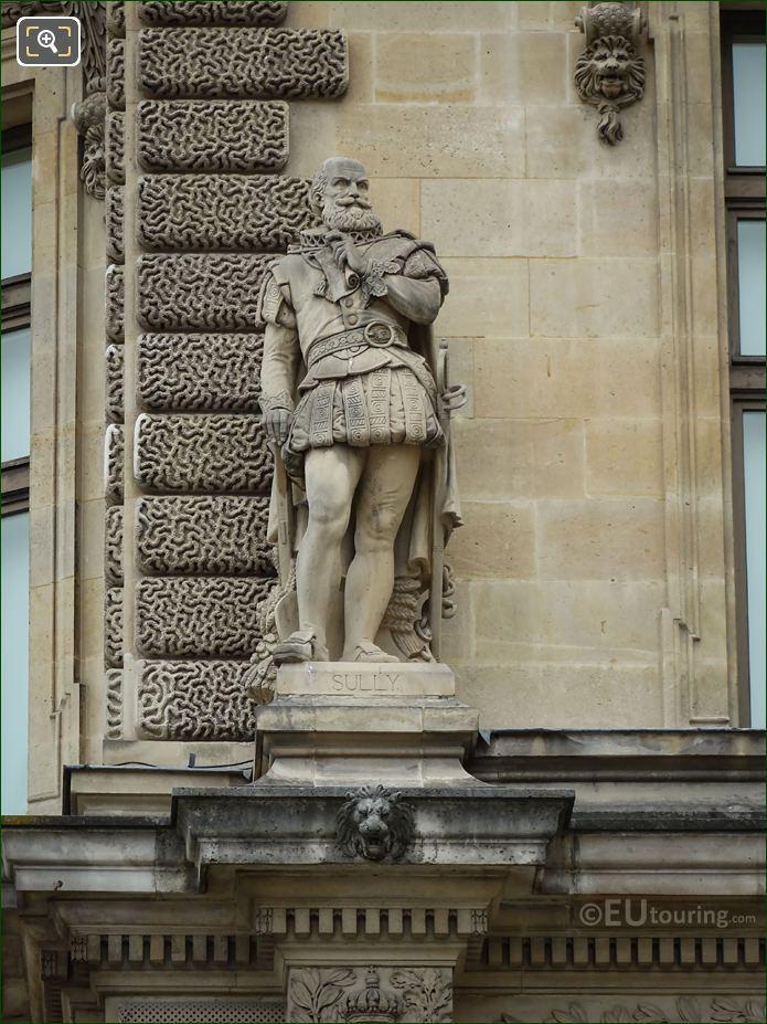 Duc De Sully Statue On Rotonde De Beauvais