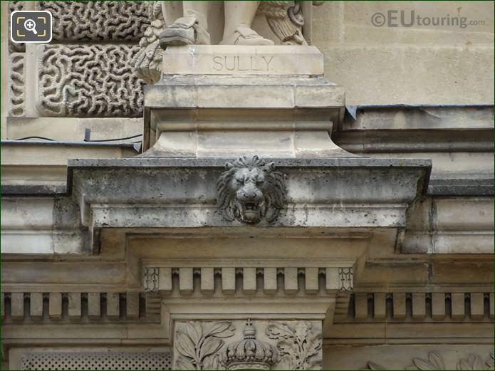 Duc De Sully Statue Name Inscription