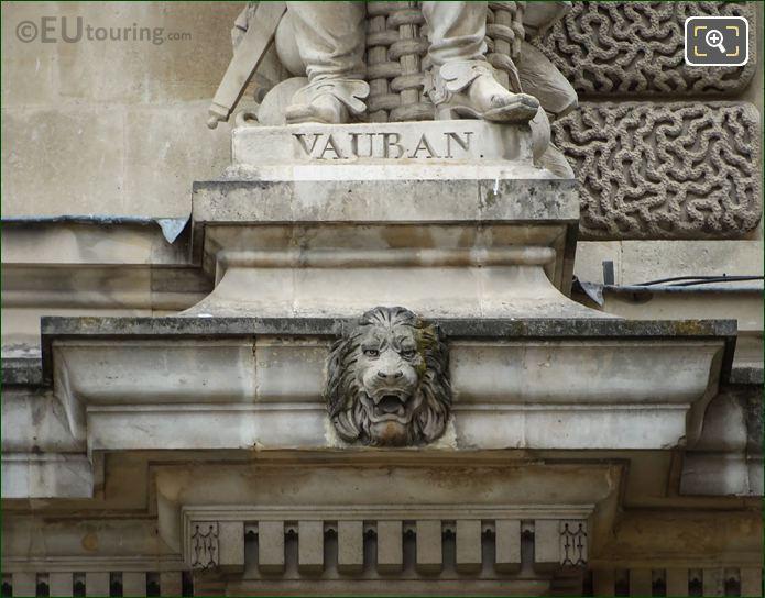 Vauban Name Inscription On Statue