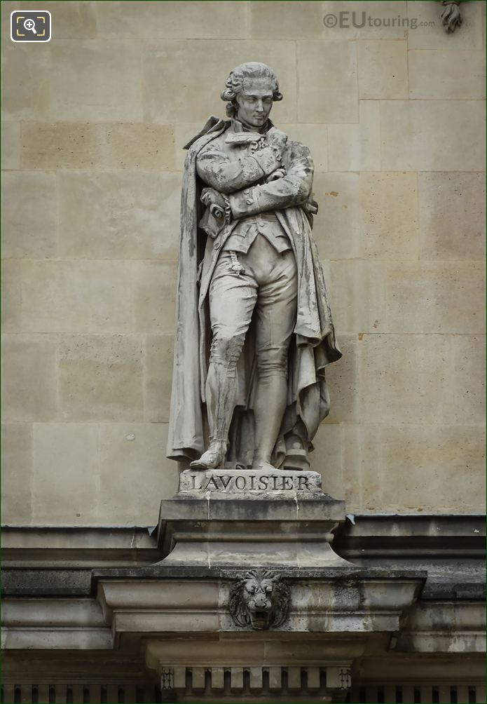 Antoine Lavoisier Statue On Rotonde De Beauvais