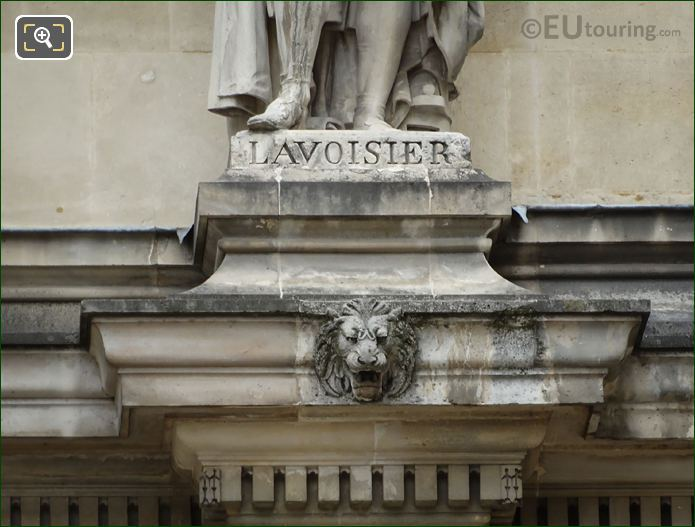 Name Inscription On Antoine Lavoisier Statue
