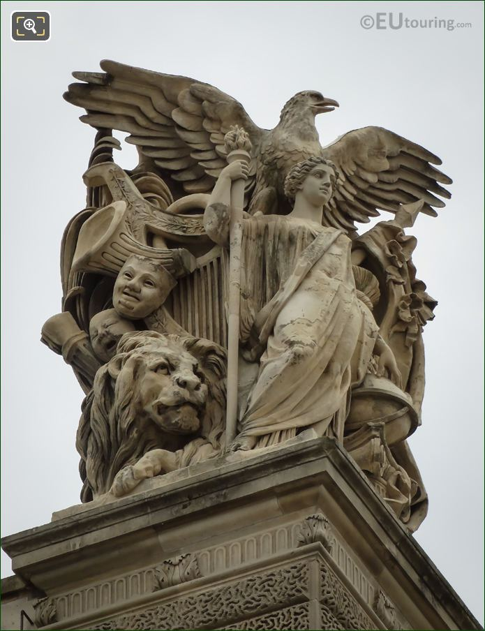 Paix Statue Group By Antoine Auguste Preault