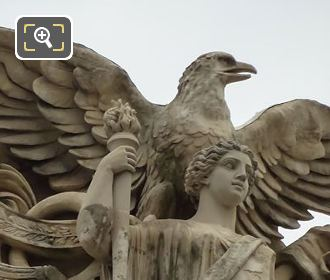 Sculpted Eagle On Paix Statue Group