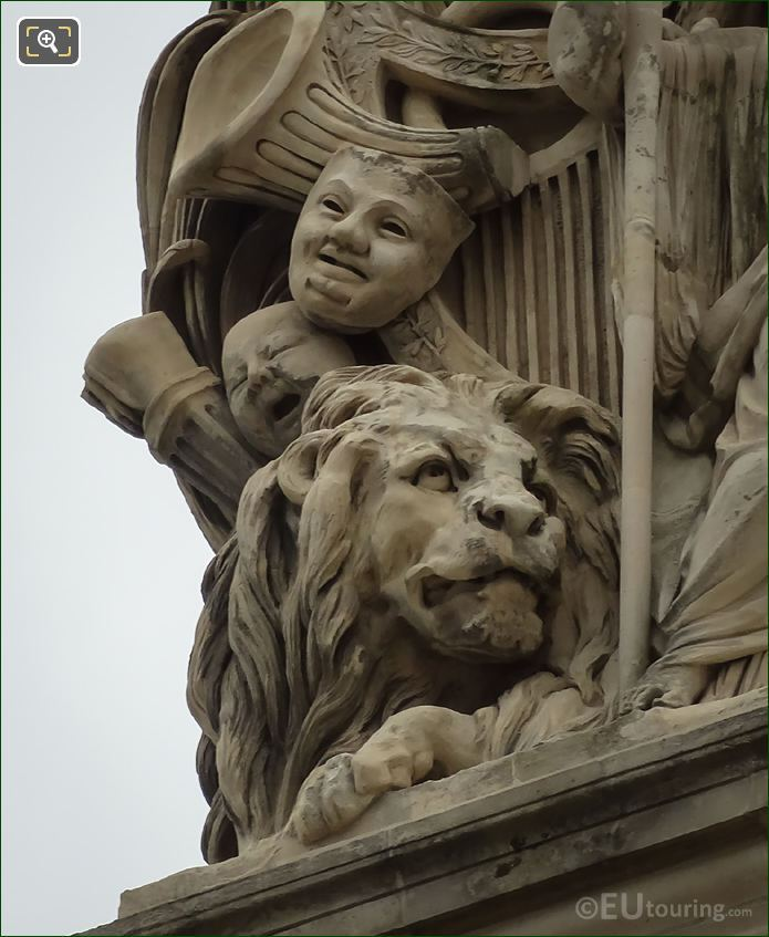Sculpted Lion On Paix Statue Group