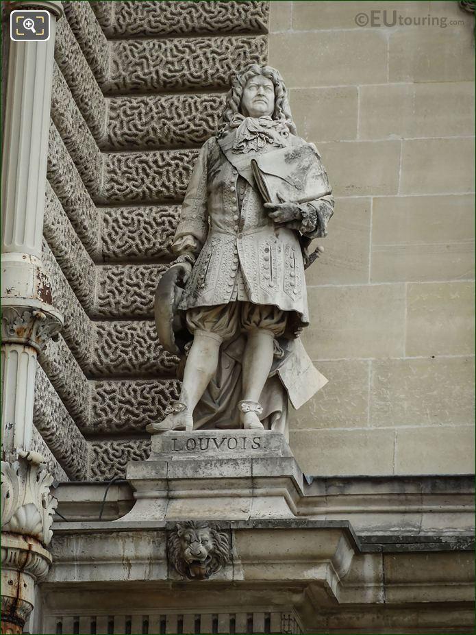 Marquis De Louvois Statue By Aime Millet