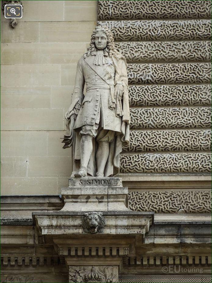 Saint Simon Statue On Aile Henri IV At Musee Du Louvre