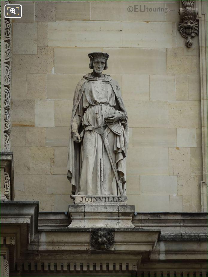 Jean De Joinville Statue On Aile Henri IV
