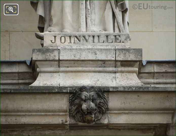 Name Inscription On Jean De Joinville Statue
