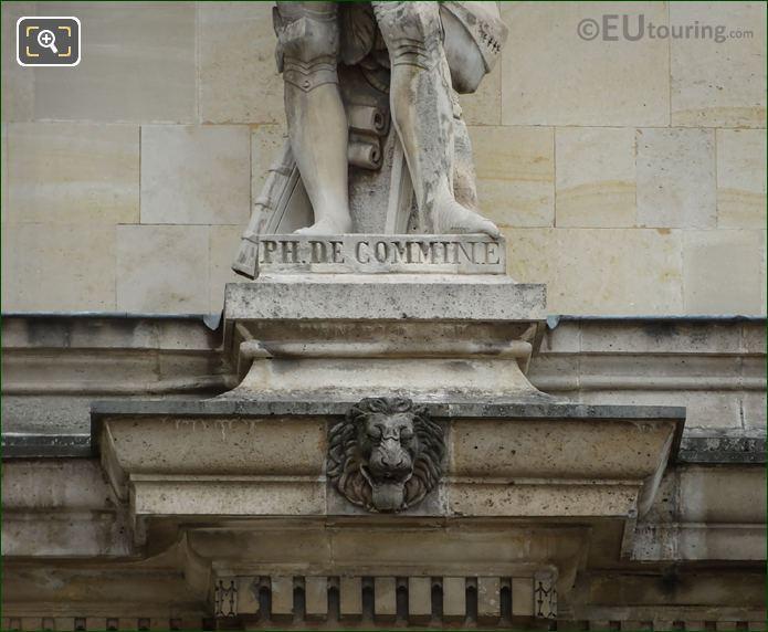 Name Inscription On Esprit Flechier Statue