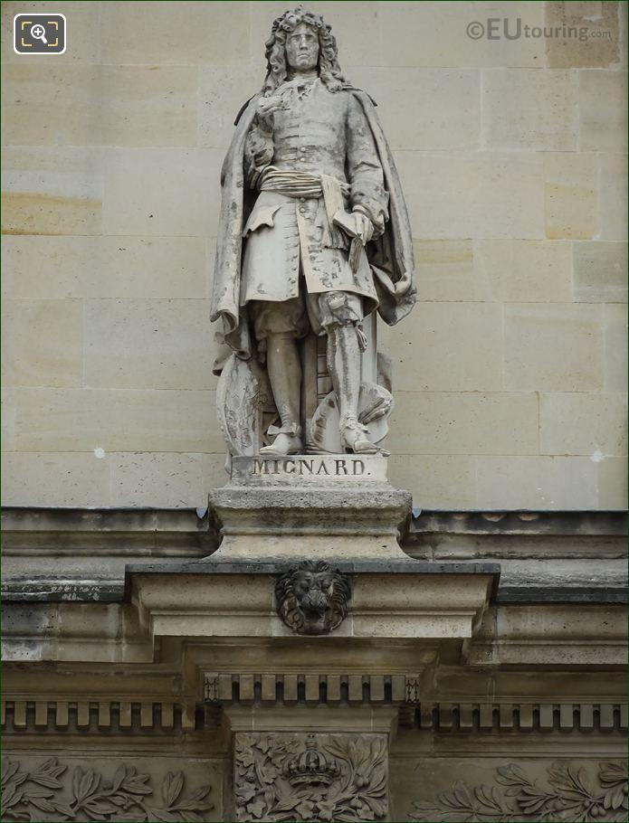 Pierre Mignard Statue On Aile Henri IV