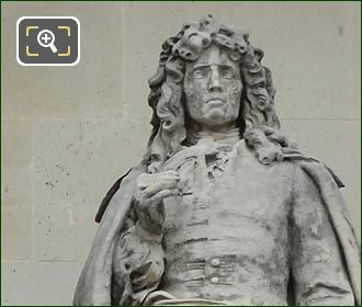 Pierre Mignard Statue By Jean-Baptiste Joseph Debay