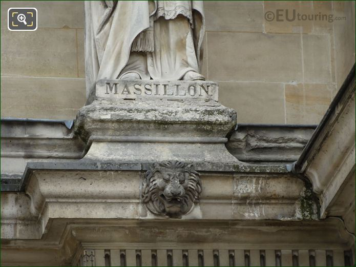 Name Inscription On Jean-Baptiste Massillon Statue