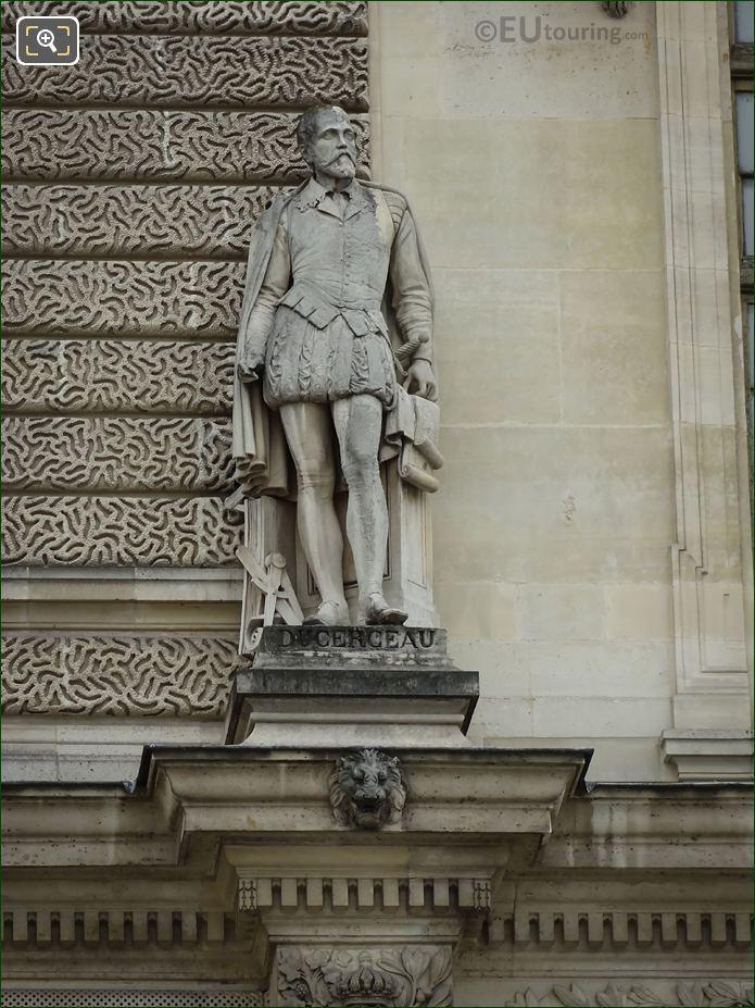 Jacques Ducerceau Statue On Sully Pavilion