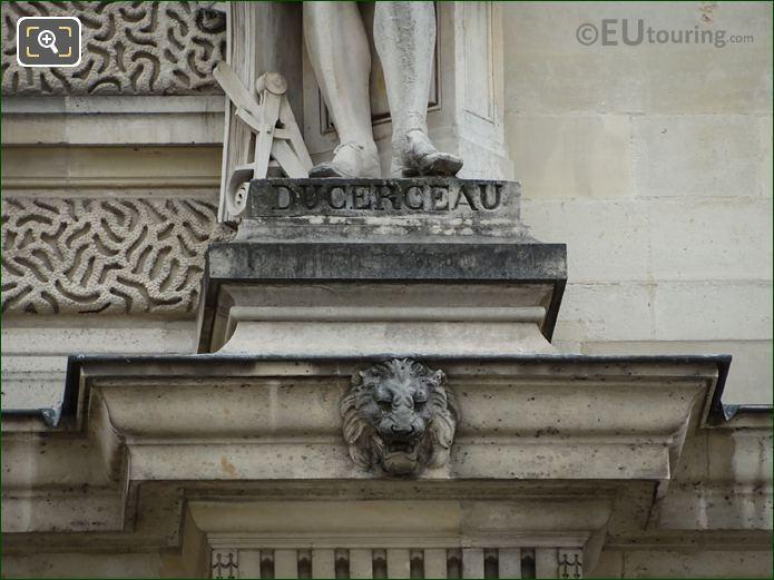 Name Inscription On Jacques Ducerceau Statue