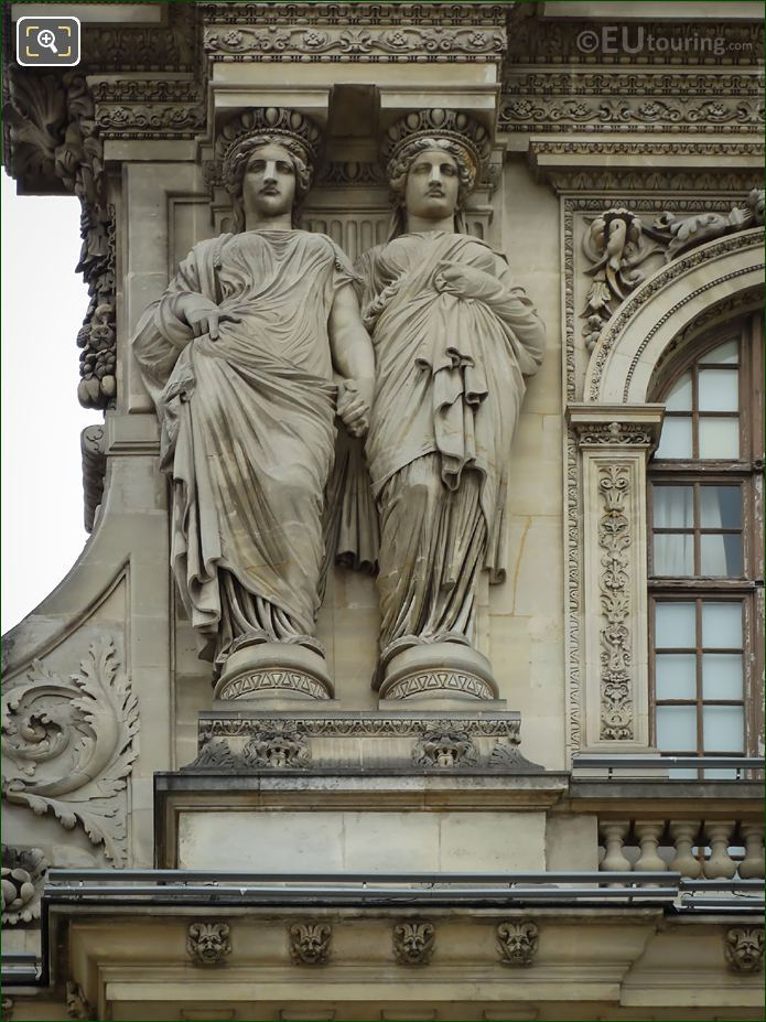 Pavillon Sully LHS Caryatid Sculptures