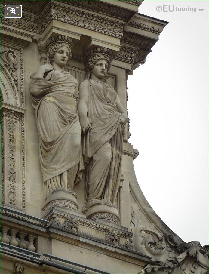 RHS Caryatid Sculptures Pavillon Sully