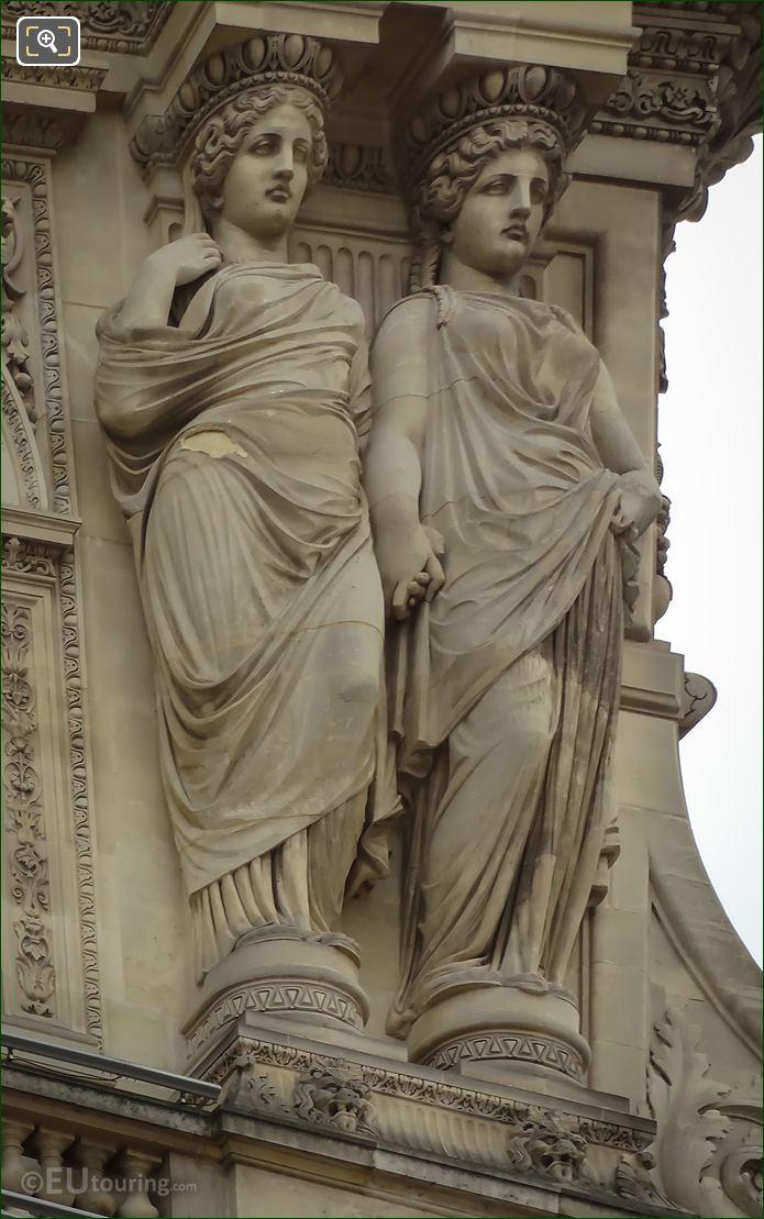 RHS Caryatid Sculptures By Pierre Charles Simart