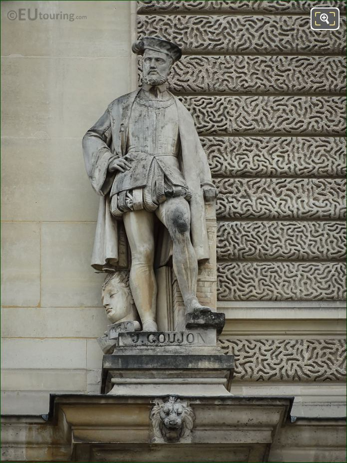 Jean Goujon Statue On Pavillon Sully