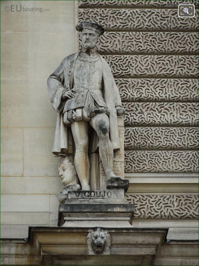 Jean Goujon Statue On Pavillon Sully