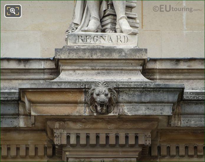 Name Inscription On Jean-Francois Regnard Statue