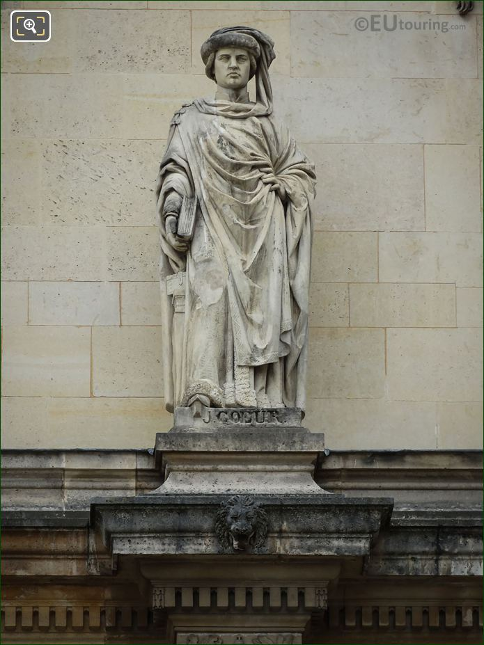 Jacques Coeur Statue On Aile Henri II