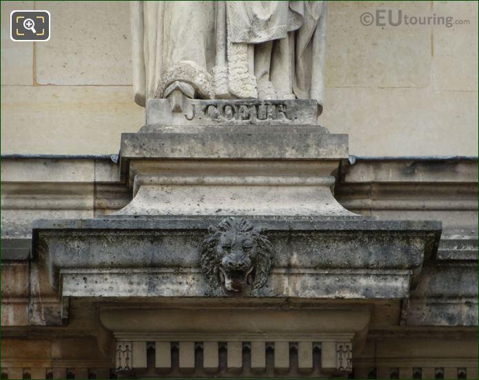 Name Inscription On Jacques Coeur Statue