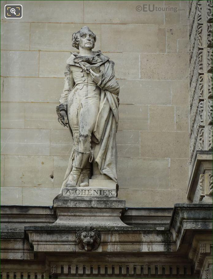 Andre Marie Chenier Statue On Aile Henri II