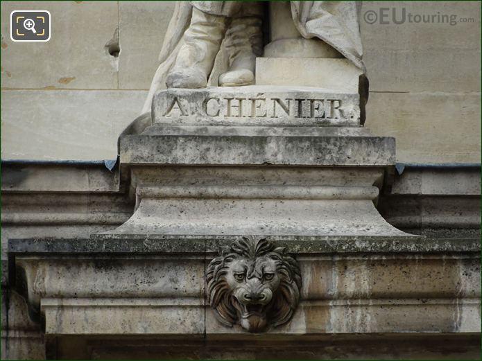 Name Inscription On Andre Marie Chenier Statue
