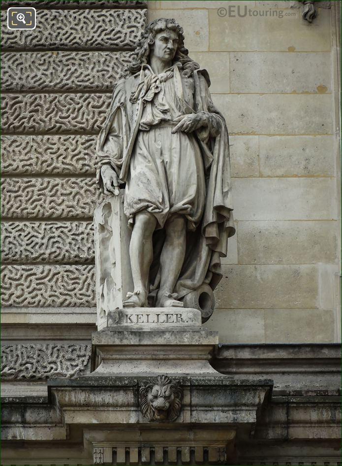Jean-Balthazar Keller Statue On Aile Henri II