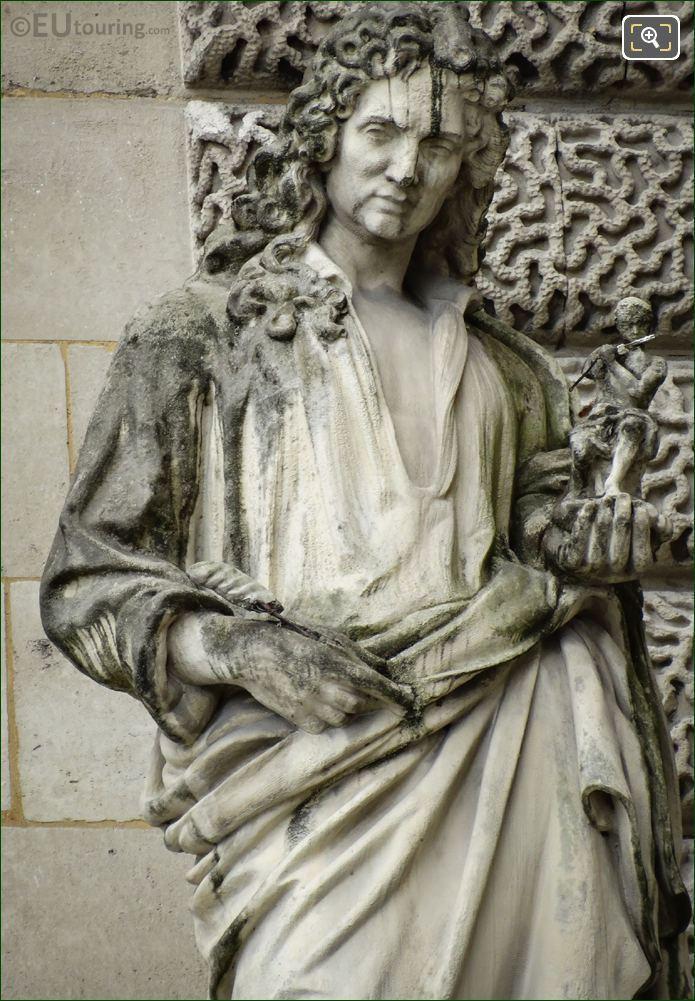 Antoine Coysevox Statue By Jules Antoine Droz
