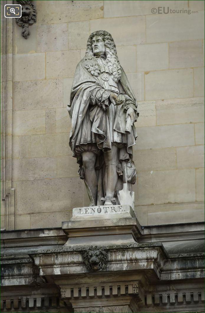J Barre Statue Le Notre On Rotonde d Apollon
