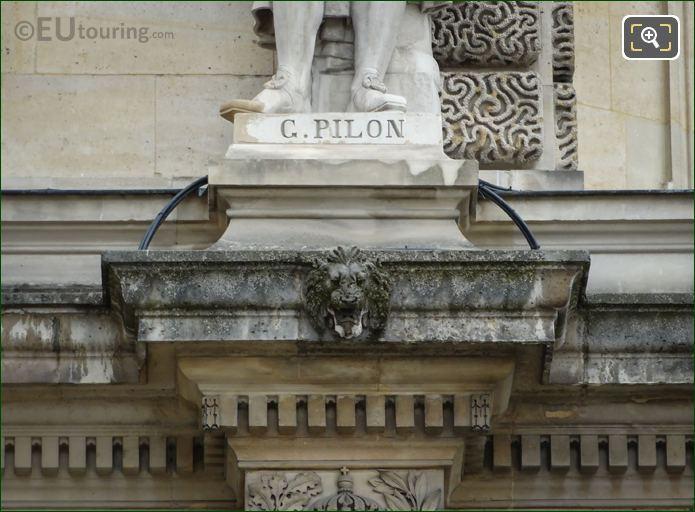 Name Inscription On Germain Pilon Statue
