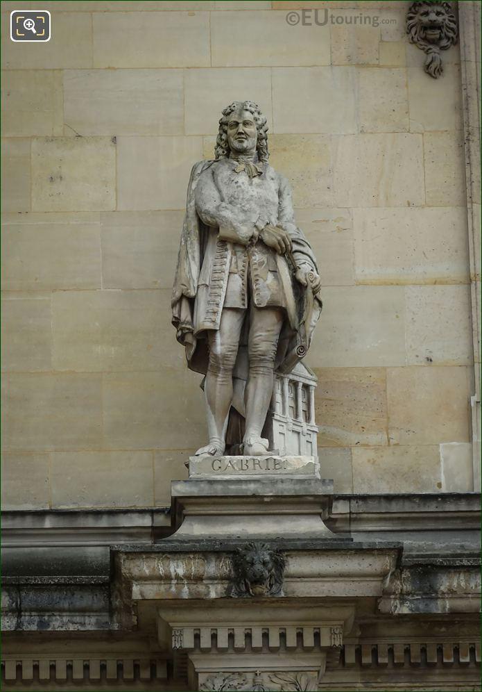 Ange-Jacques Gabriel Statue On Rotonde d Appolon