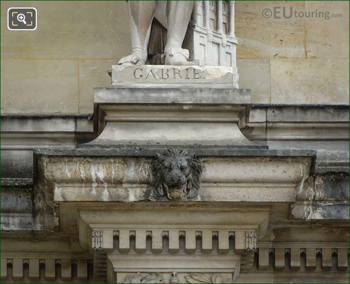 Name Inscription On Ange-Jacques Gabriel Statue