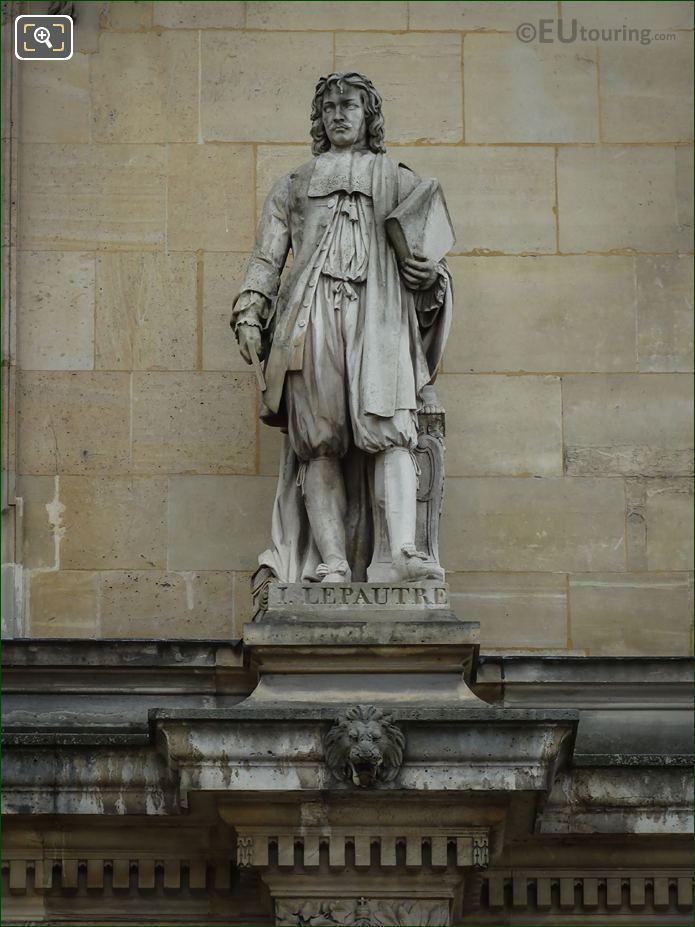 Jean Lepautre Statue By Astyanax Scaevola Bosio