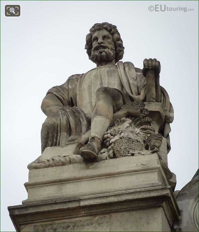 Le Travail Manuel Statue By Auguste Ottin