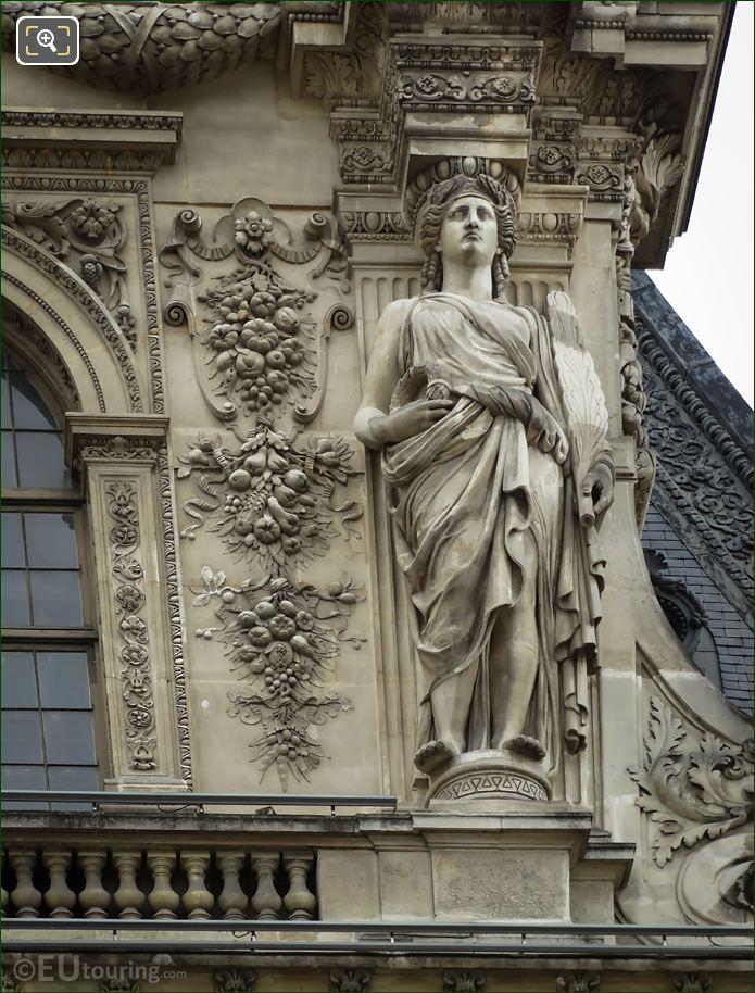 RHS Caryatid On Pavillon Daru Musee Du Louvre