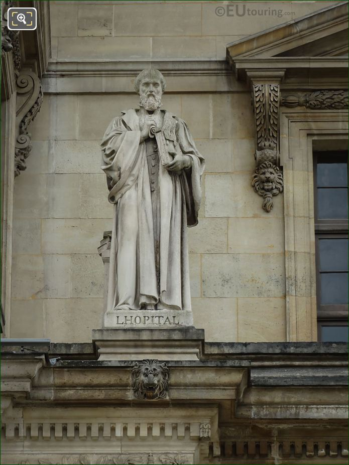 Michel De l Hopital Statue On Aile Daru