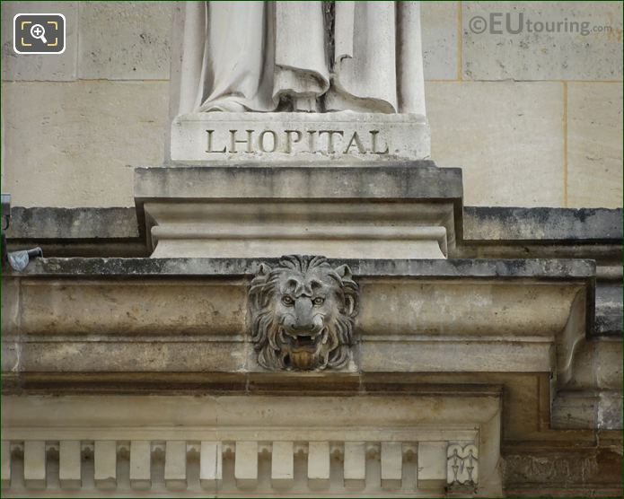 Name Inscription On Michel De l Hopital Statue