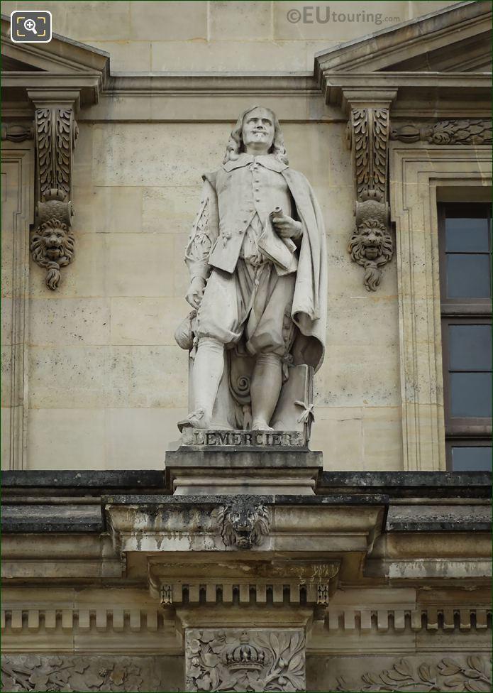 Jacques Lemercier Statue On Aile Daru