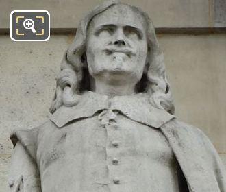 Jacques Lemercier Statue By Anotoine Laurent Danton