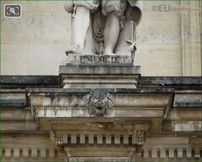 Inscription On Jacques Lemercier Statue