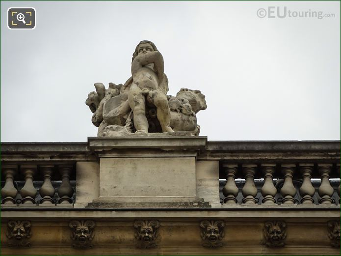 L'Ete Statue On North Facade Of Aile Daru At Musee Du Louvre