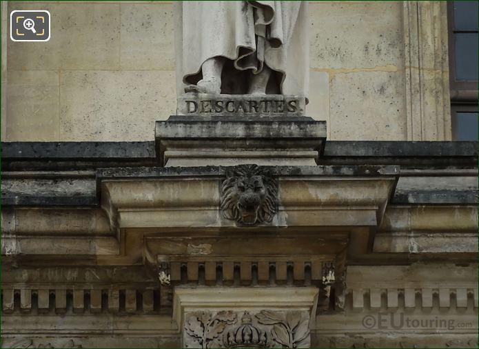 Name Inscription On Rene Descartes Statue