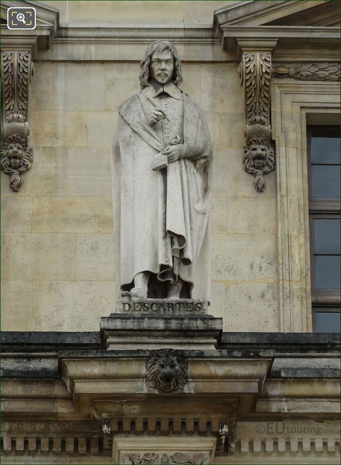 Rene Descartes Statue On Aile Daru