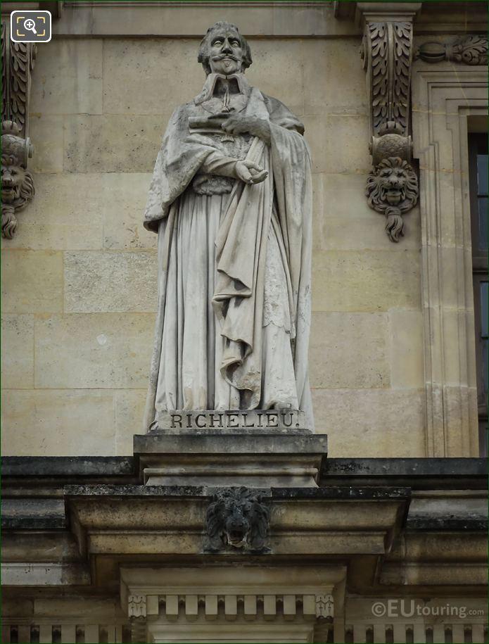 Cardinal Richelieu Statue By Jean Auguste Barre